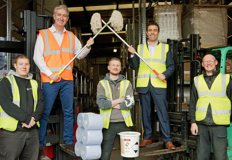 l-r-Roger-and-Ben-Crosby-and-staff-with-their-cleaning-supplies-crop.jpg