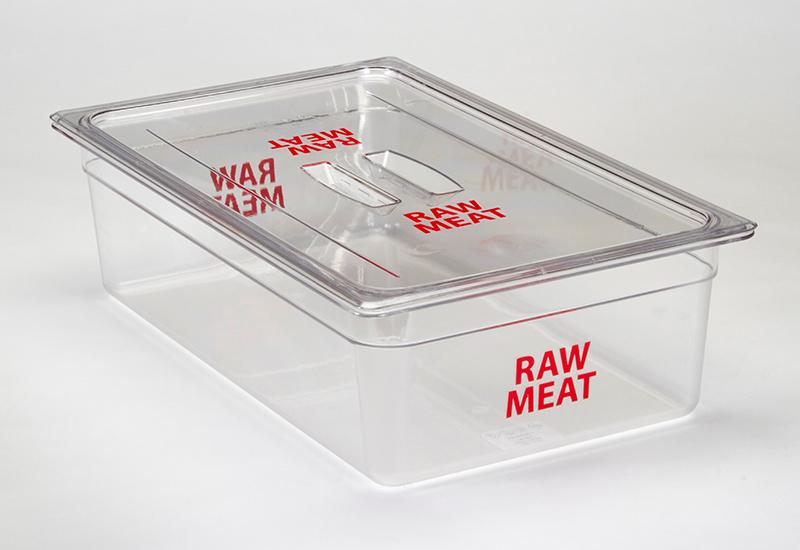 Cambro raw meat food pan crop