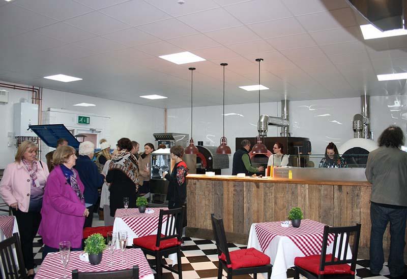 Linda Lewis demo kitchen launch day crop