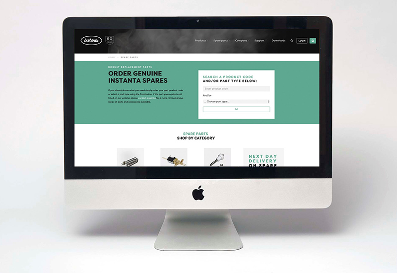 Instanta website spares crop