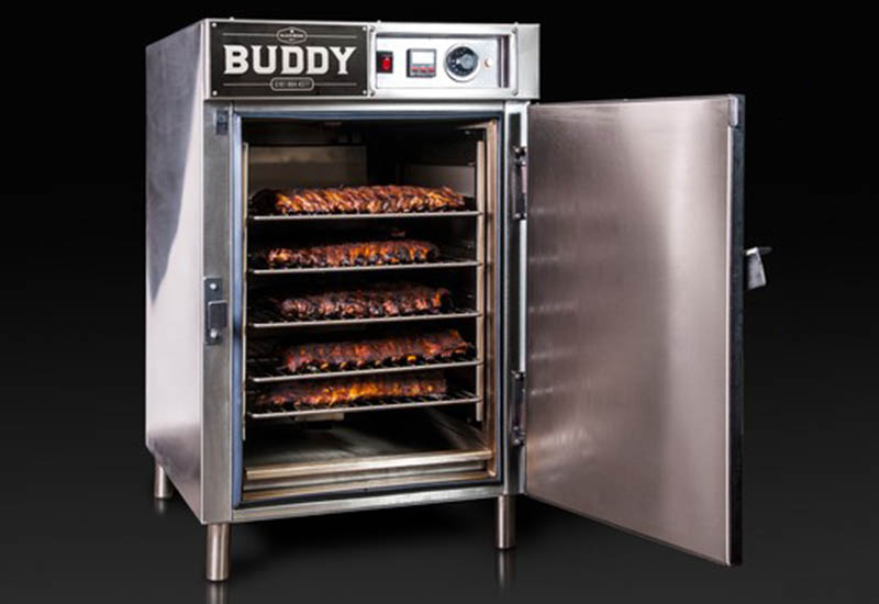 Buddy BBQ smoker crop