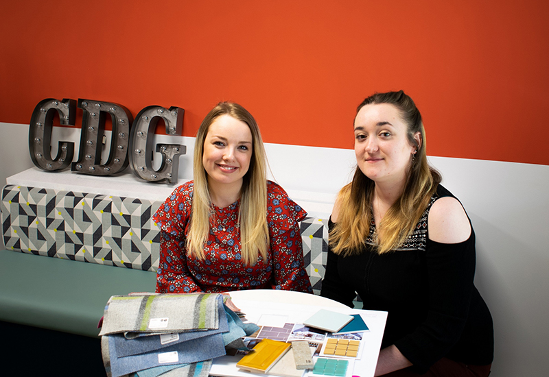From left to right Tansin Blankley and Hazel Barnes from Catering Design Group crop