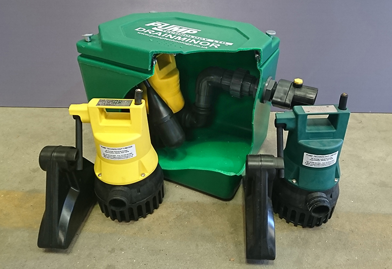 New Pump Technology Ltd DrainMinor Floor Mounted Wastewater pumping system crop