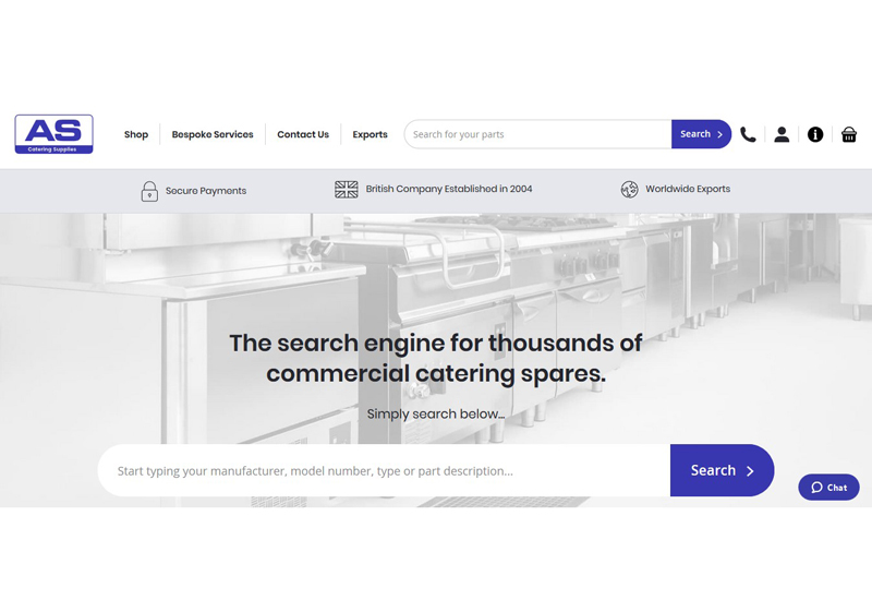 A S Catering Supplies site crop