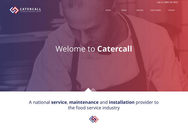 Catercall website screenshot crop