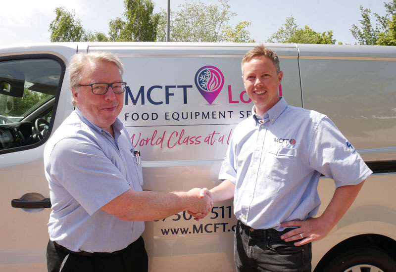 Franchisee Phil Davies with CEO Chris Craggs crop