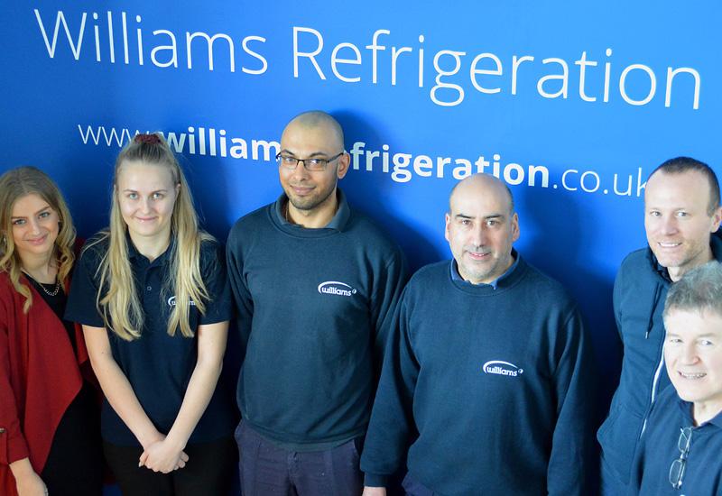 From-left-Bethany-Feltwell-Cassie-Barlow-Ben-Saman-Daniel-Walker-and-John-Hopgood-with-Williams-Plant-2-Supervisor-Alan-Murray