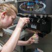 A Taylor soft serve ice cream machine crop