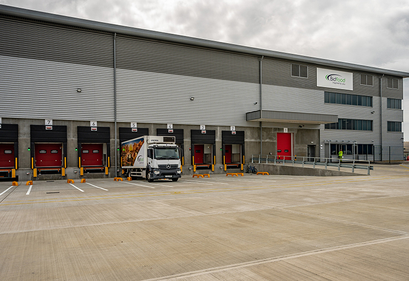 Bidfood Worthing Depot Loading Bays with Truck crop