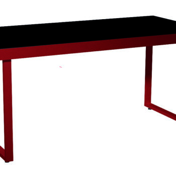 Frames of a livecookintable system customised in a red metallic colour crop
