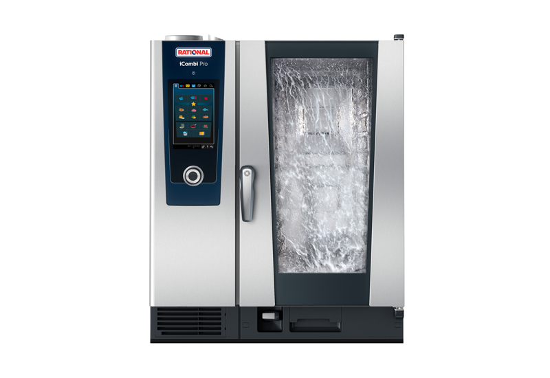 A-Rational-iCombi-Pro-1011E-running-the-iCareSystem-self-cleaning-program crop