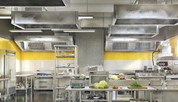 Industrial kitchen. Restaurant modern kitchen. 3d illustration