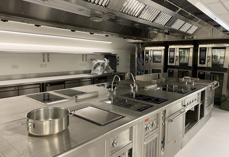 The kitchen at the ICAEW features induction cooking to align with the Institute's environmental strategy