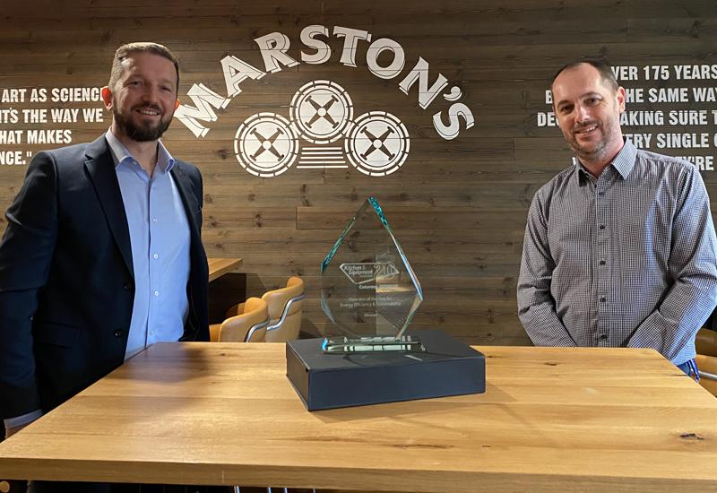 True and Marston's award presentation