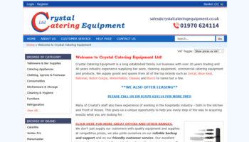 Crystal Catering Equipment screenshot crop