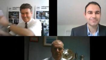 Gratte Brothers virtual trophy handover