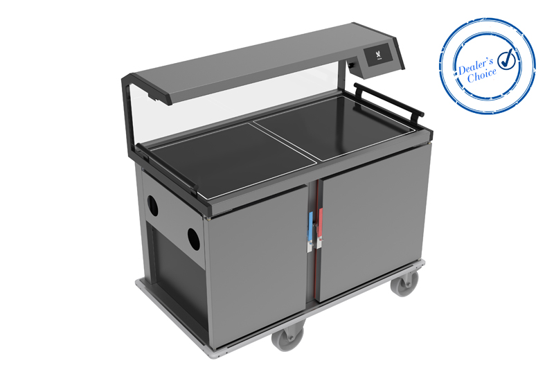 A Falcon Vario-Therm foodservice trolley, model F2HR crop