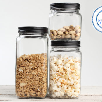 T&G Square Glass Store Jars crop