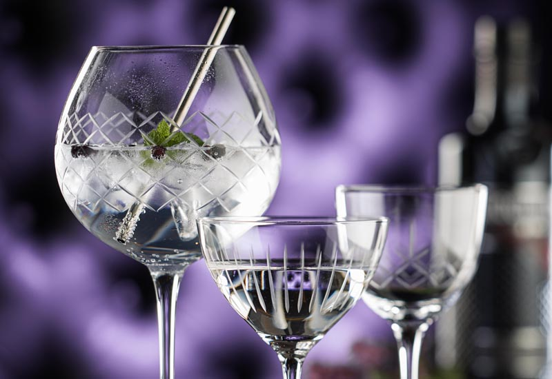 A selection of glasses from the Utopia Raffles collection crop