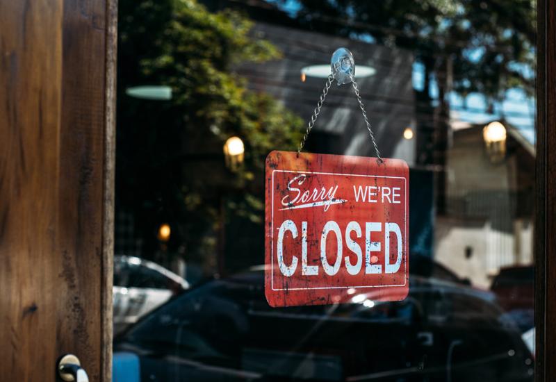 Closed sign crop