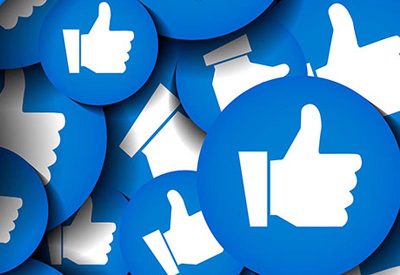 Horizontal social media cover template. Blue background vector i