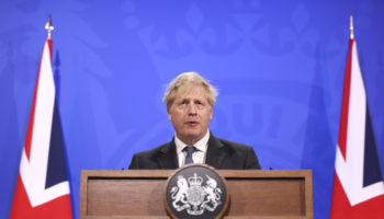 Prime Minister Boris Johnson holds COVID-19 Press Conference