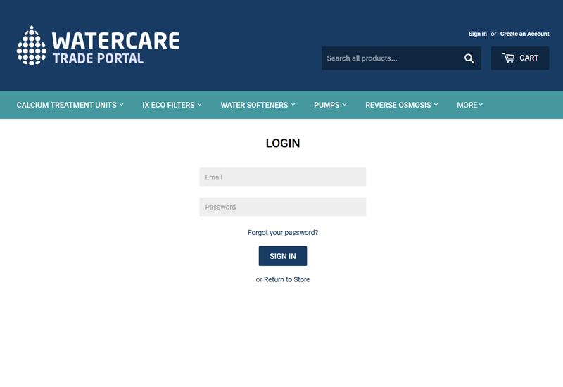 WaterCare trade portal crop