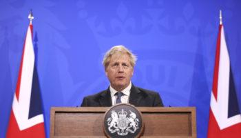 Prime Minister Boris Johnson holds COVID-19 Press Conference