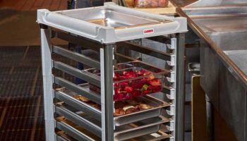 Camshelving GN food pan trolleys available from FEM crop