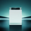 Elegant futuristic light and reflection with grid line backgroun